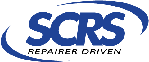 Logo for SCRS (The Society of Collision Repair Specialists)
